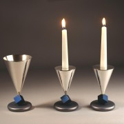 Kiddush Cup GC-04 & Candlesticks CH-08